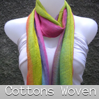 woven cotton scarves bali