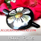 sea shells hair pin bali