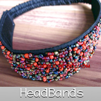 head band beaded stretching