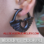 hooked piercings supplier bone horn wooden