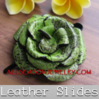 leather hair slides bali