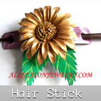 leather hair stick accessories