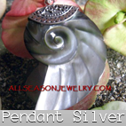 pendants silver shells