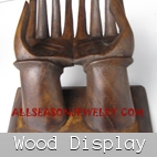 wood displays jewelry cases natural