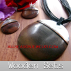 wooden jewelry sets matching