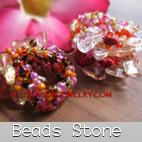 bead stone rings bali