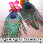 feather earrings peacock