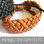 hemp bracelets leather