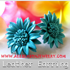 leather earrings fashion
