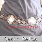 resin women belts bali