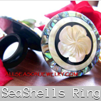sea shells ring carving