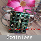 cuff stainless steels bracelets with shells