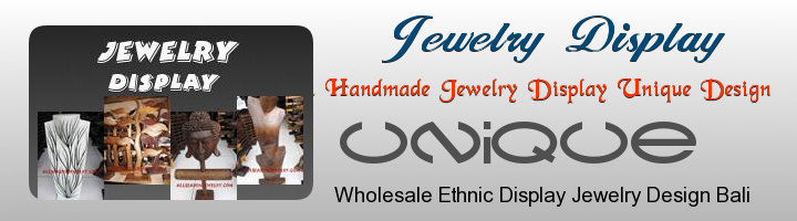 wooden jewelry displayed from bali supplier