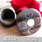 wooden finger rings